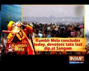Kumbh Mela concludes today, devotees take last dip at Sangam