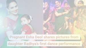 Pregnant Esha Deol shares pictures from daughter Radhya's first dance performance