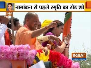 Lok Sabha Election 2019: Smriti Irani holds a Mega Road Show In Amethi