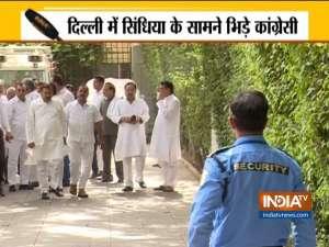 Congress leaders lose cool during review meeting in Delhi in the presence of Jyotiraditya Scindia