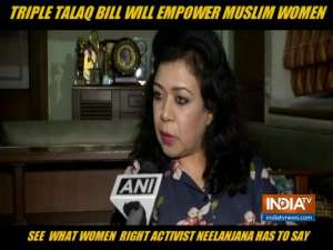 This bill is for the protection of rights, privileges of the Muslim women, says Women Right activist Neelanjana