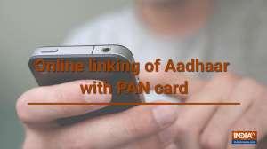 Online linking of Aadhaar with PAN card