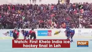 First Khelo India ice hockey final in Leh