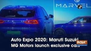 Auto Expo 2020: Maruti Suzuki, MG Motors launch exclusive cars