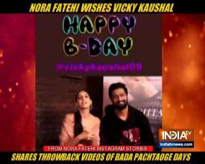 Nora Fatehi wishes Vicky Kaushal on birthday with throwback videos