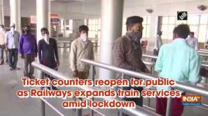 Ticket counters reopen for public as Railways expands train services amid lockdown