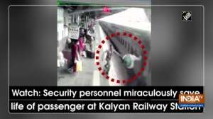 Watch: Security personnel miraculously save life of passenger at Kalyan Railway Station