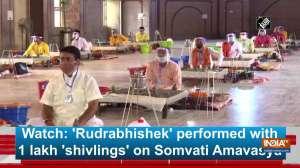 Watch: 'Rudrabhishek' performed with 1 lakh 'shivlings' on Somvati Amavasya