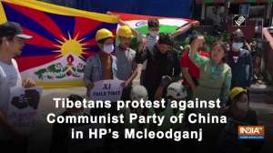 Tibetans protest against Communist Party of China in HP's Mcleodganj