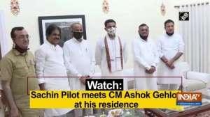 Watch: Sachin Pilot meets CM Ashok Gehlot at his residence