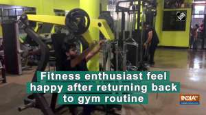 Fitness enthusiast feel happy after returning back to gym routine