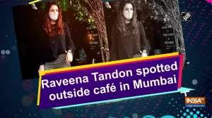 Raveena Tandon spotted outside cafe in Mumbai
