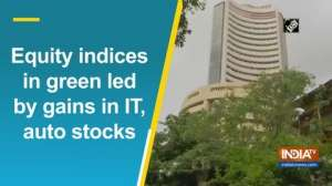 Equity indices in green led by gains in IT, auto stocks
