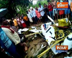 One killed as aircraft crashes in UP's Azamgarh