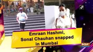 Emraan Hashmi, Sonal Chauhan snapped in Mumbai