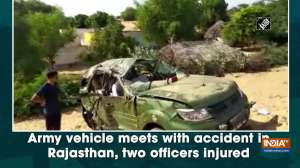 Army vehicle meets with accident in Rajasthan, two officers injured