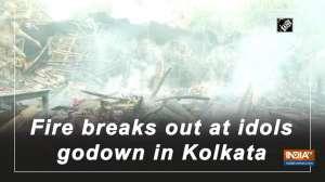Fire breaks out at idols godown in Kolkata