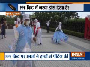 Gujarat: Fashion Designing students perform 'Garba' in costumes made of PPE kits in Surat