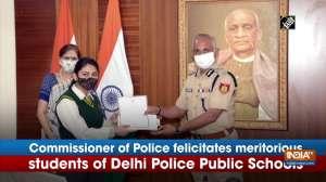 Commissioner of Police felicitates meritorious students of Delhi Police Public Schools