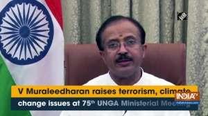 V Muraleedharan raises terrorism, climate change issues at 75th UNGA Ministerial Meeting