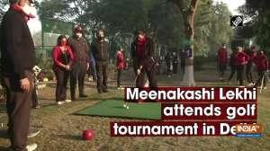 Meenakashi Lekhi attends golf tournament in Delhi