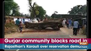 Gurjar community blocks road in Rajasthan's Karauli over reservation demands