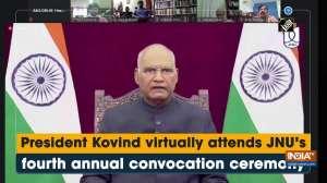 President Kovind virtually attends JNU's fourth annual convocation ceremony