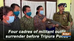 Four cadres of militant outfit surrender before Tripura Police