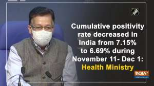 Cumulative COVID-19 positivity rate shows consistent decrease: Health Ministry