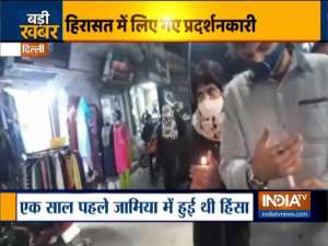 Jamia violence anniversary: Protesters take out candle march, detained