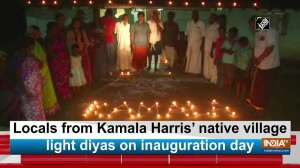 Locals from Kamala Harris' native village light diyas on inauguration day