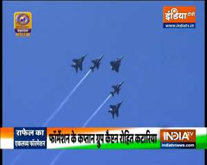 Republic Day 2021: 'Rudra' formation comprising a Dakota aircraft flanked by 2 Mi-17 IV helicopters