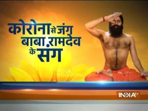 Know Yogasanas and Pranayamas to keep body fit from Swami Ramdev on Republic Day