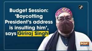 Budget Session: 'Boycotting President's address is insulting him', says Giriraj Singh