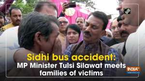 Sidhi bus accident: MP Minister Tulsi Silawat meets families of victims