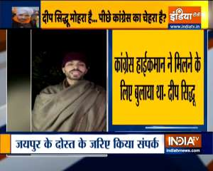 'Congress Leadership asked me to meet' says Deep Sidhu