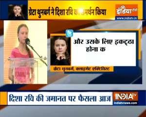 Greta Thunberg tweets in support of Disha Ravi