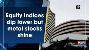 Equity indices dip lower but metal stocks shine