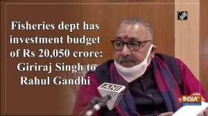 Fisheries dept has investment budget of Rs 20,050 crore: Giriraj Singh to Rahul Gandhi