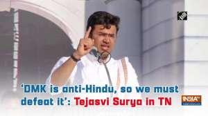 'DMK is anti-Hindu, so we must defeat it': Tejasvi Surya in TN