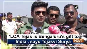 'LCA Tejas is Bengaluru's gift to India', says Tejasvi Surya