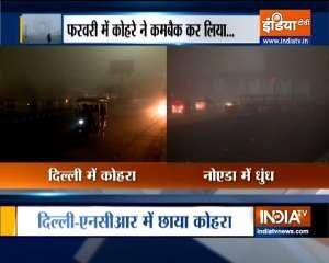 VIDEO: Dense fog shrouds parts of Delhi-NCR