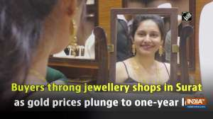Buyers throng jewellery shops in Surat as gold prices plunge to one-year low