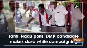 Tamil Nadu polls: DMK candidate makes dosa while campaigning