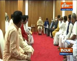 Prime Minister Narendra Modi meets the members of Matua community in Orakandi