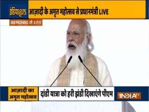 PM Modi launches Azadi ka Amrit Mahotsav in Ahmedabad