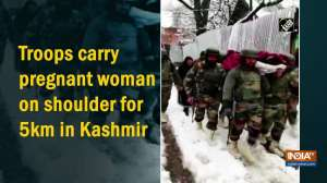 Troops carry pregnant woman on shoulder for 5km in Kashmir