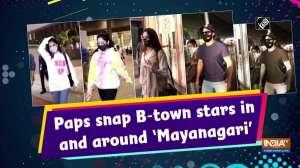 Paps snap B-town stars in and around 'Mayanagari'