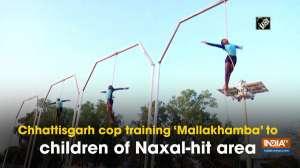 Chhattisgarh cop training 'Mallakhamba' to children of Naxal-hit area
