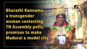 Bharathi Kannama, a transgender woman contesting TN Assembly polls, promises to make Madurai a model city